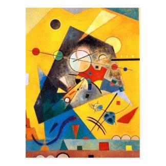Carte Postale Art abstrait d'harmonie tranquille de Kandinsky