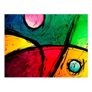 Carte Postale Art acrylique abstrait lumineux super