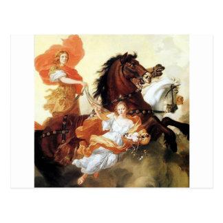 Carte Postale Art antique de mythologie de peinture d'Apollo et
