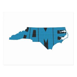 Carte Postale Art bleu de mot de l'État d'origine de la Caroline