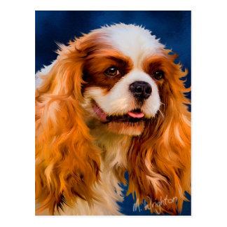 Carte Postale Art cavalier de chien d'épagneul du Roi Charles -