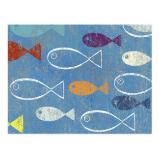 Carte Postale Art chrétien de poissons