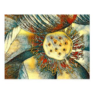 Carte Postale Art coloré de fleur de Lotus