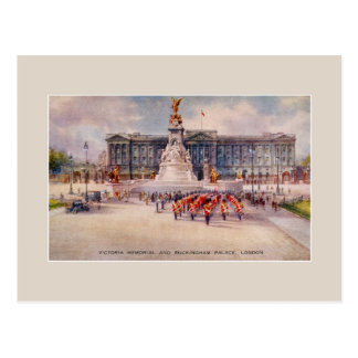 Carte Postale Art commémoratif vintage de Buckingham Palace de