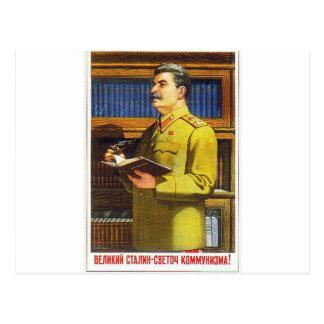 Carte Postale art d'affiche de stalin