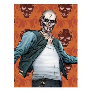 Carte Postale Art de bande dessinée d'EL Diablo du peloton   de