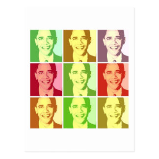 Carte Postale Art de bruit de Barack Obama
