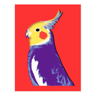 Carte Postale Art de bruit de Cockatiel