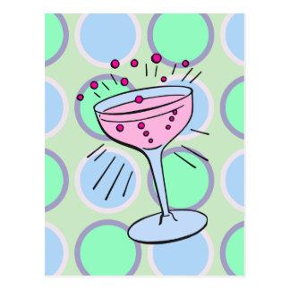 Carte Postale Art de bruit de cocktail