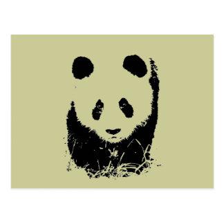 Carte Postale Art de bruit de panda