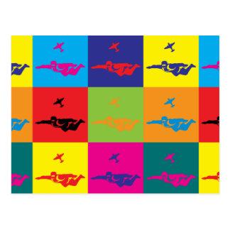 Carte Postale Art de bruit de parachutisme