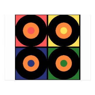 Carte Postale Art de bruit de vinyle