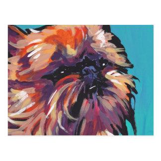 Carte Postale Art de bruit lumineux d'amusement de chien de