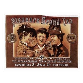 Carte Postale Art de cru de thé de marque de plaisir