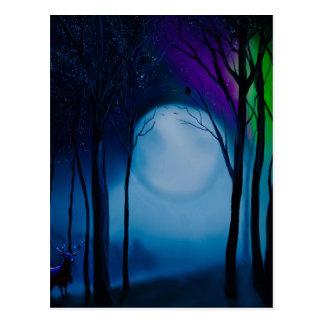 Carte Postale Art de forêt d'imaginaire