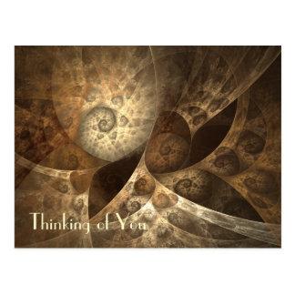 Carte Postale Art de fractale de cannelle et de gingembre