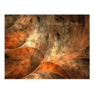 Carte Postale Art de fractale de richesse d'automne