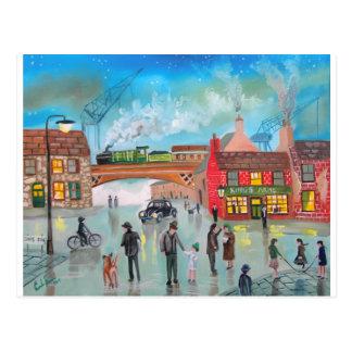 Carte Postale Art de Gordon Bruce de train de scène de rue
