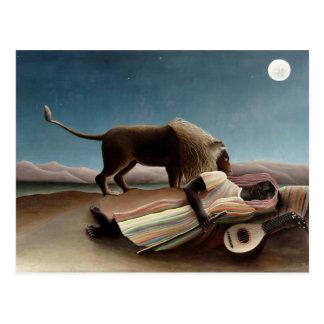 Carte Postale Art de Henri Rousseau : Gitan de sommeil