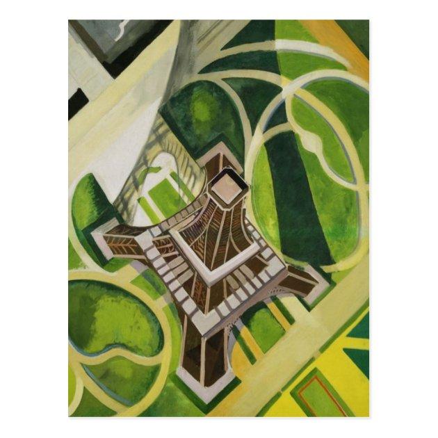 Carte Postale Art De La Tour Eiffel Robert Delaunay Zazzle Fr