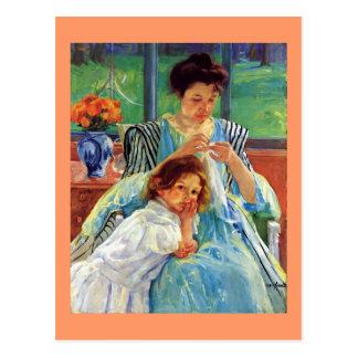 Carte Postale Art de Mary Cassatt : Jeune mère, peinture de