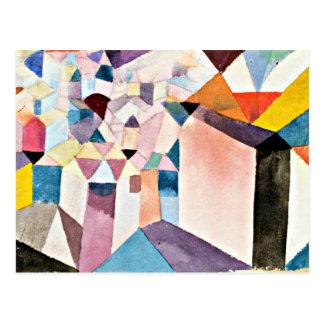Carte Postale Art de Paul Klee : Aperçu d'une ville