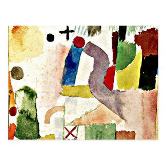 Carte Postale Art de Paul Klee - aquarelle pathétique