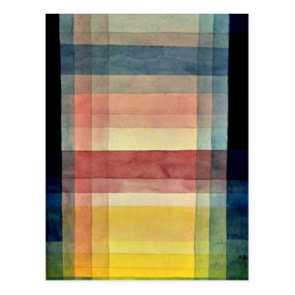 Carte Postale Art de Paul Klee : Architecture de la plaine