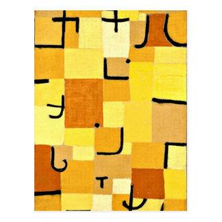Carte Postale Art de Paul Klee : Caractères en jaune
