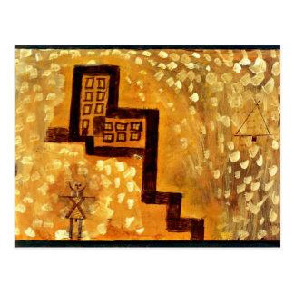 Carte Postale Art de Paul Klee : La Chambre sur la haute