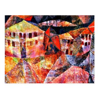 Carte Postale Art de Paul Klee : L'hôtel, peinture célèbre par