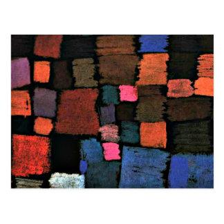 Carte Postale Art de Paul Klee, venant à la fleur