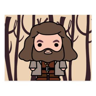 Carte Postale Art de personnage de dessin animé de Hagrid