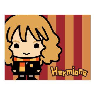 Carte Postale Art de personnage de dessin animé de Hermione