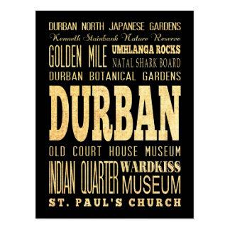 Carte Postale Art de typographie de l'Afrique du Sud de ville de