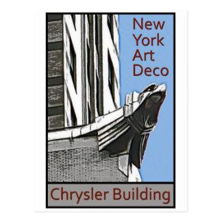 Carte Postale Art déco de New York - Chrysler construisant Eagle