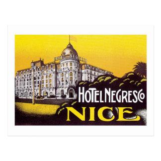 Carte Postale Art d'étiquette d'hôtel de la France de voyage