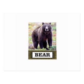 Carte Postale art d'étiquette d'ours noir