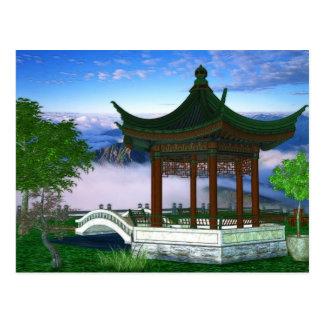 Carte Postale Art d'imaginaire de paysage de nature de pagoda