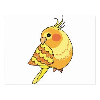 Carte Postale Art d'oiseau de Cockatiel