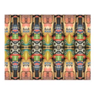 Carte Postale Art du nord-ouest de totem