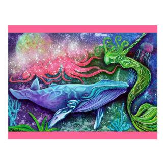 Carte Postale Art enchanté d'océan