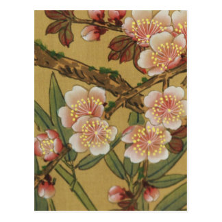 Carte Postale Art japonais asiatique de fleurs de cerisier