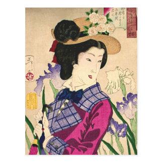 Carte Postale Art japonais Ukiyo-e de bois de graveur de geisha