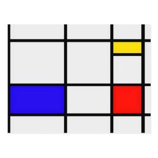 Carte Postale Art moderne de Piet Mondrian