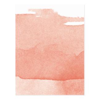 Carte Postale Art moderne rose de corail d'Ombre de peinture