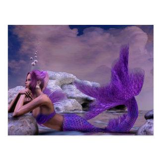 Carte Postale Art mystique de sirène d'imaginaire de sirène