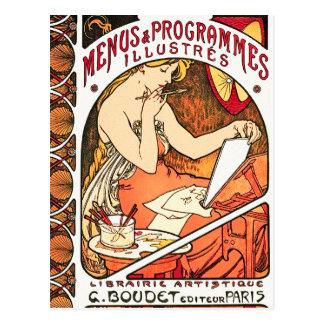 Carte postale : Art Nouveau - Alphonse Mucha