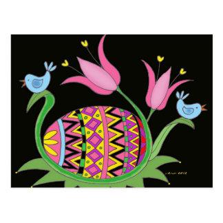 Carte Postale Art populaire d'Ukrainien de bénédiction de Pâques