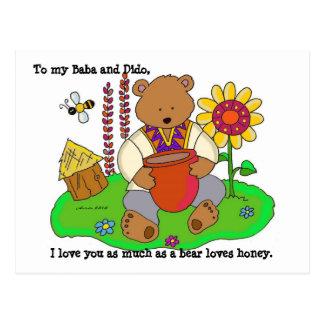 Carte Postale Art populaire d'Ukrainien d'ours de miel